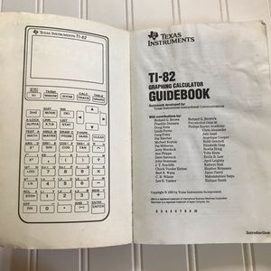 Texas Instruments Office - TI-82 Graphing Calculator with Manual Guide